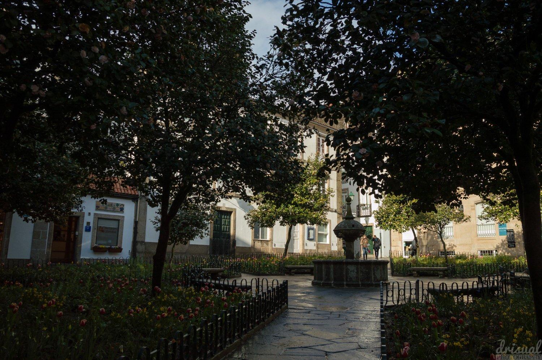 Una vista de la Plaza de Fonseca, al lado del Obradoiro.