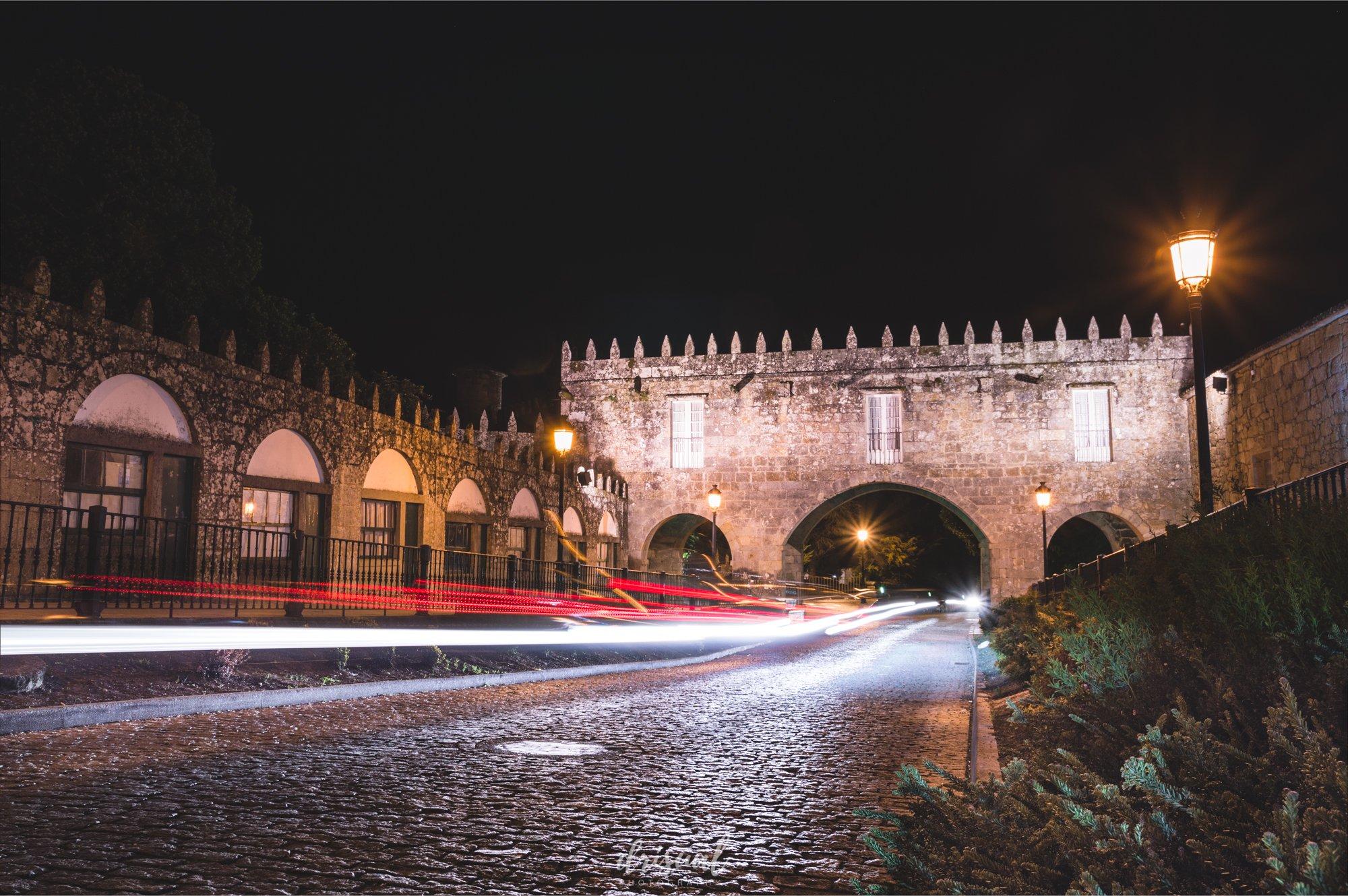 fotografía de larga exposición de noche en negreira, galicia