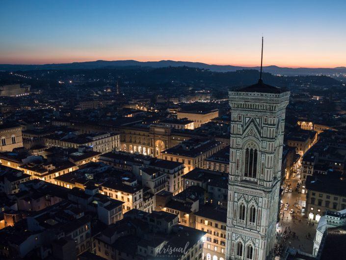 Anochecer desde el Duomo