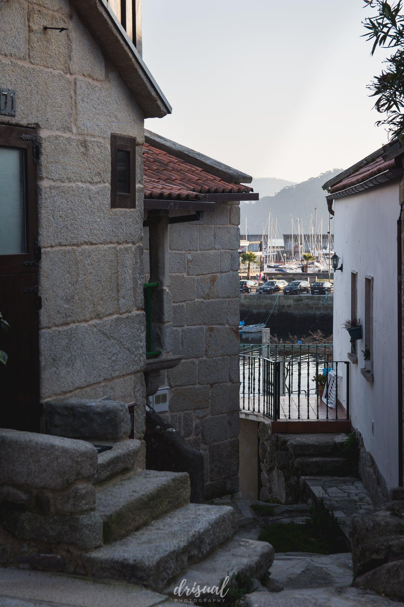 combarro, el puerto visto desde el centro histórico